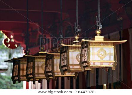 Lanterns at Fushimi Inari Shrine -Kyoto,  Japan