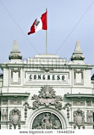 Congress building in Lima Peru