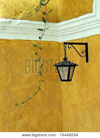 Lamp at Santa Catalina Monastery in Arequipa Peru