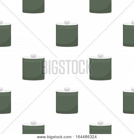 Hip flask icon in cartoon style isolated on white background. Hunting pattern vector illustration.