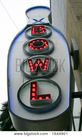 Ten Pin Bowling Sign