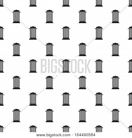 Street trash pattern. Simple illustration of street trash vector pattern for web