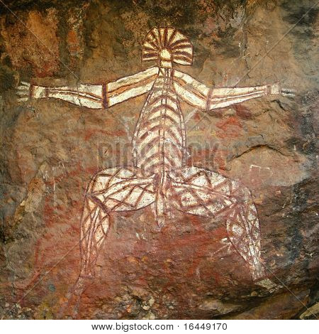 Aboriginal rock art in Kakadu