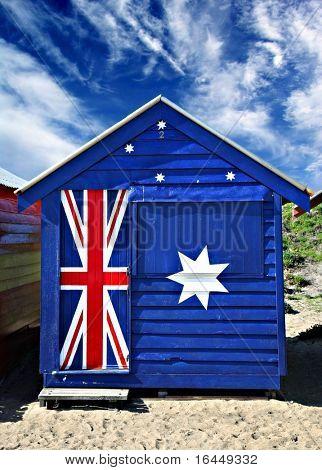 Bathing box on Melbourne's Brighton Beach