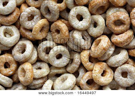 Círculo em forma de cereais para o fundo