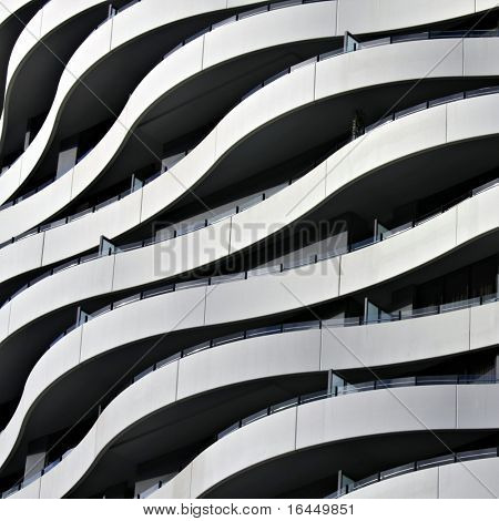 Detail of Funky Apartment Building