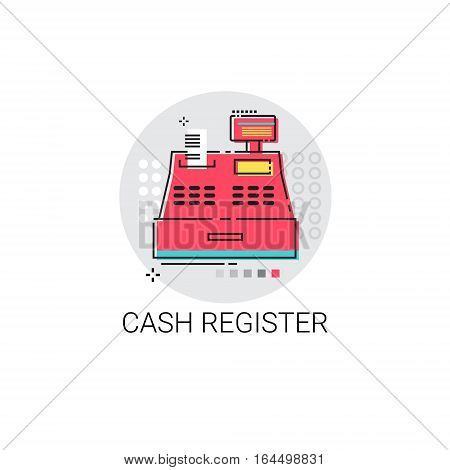 Cash Register Retail Shop Icon Vector Illustration