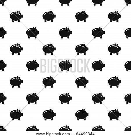 Piggy pattern. Simple illustration of piggy vector pattern for web