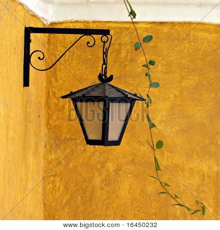 Lamp at Santa Catalina Monastery in Arequipa Peru