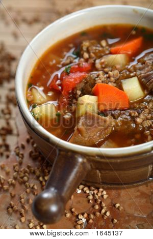 Goulash With Buckwheat Groats