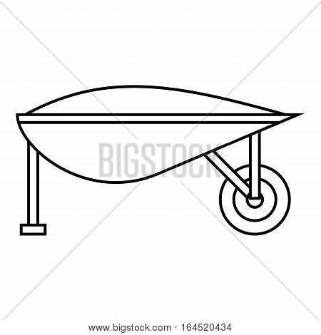 Gardening trolley icon. Outline illustration of gardening trolley vector icon for web