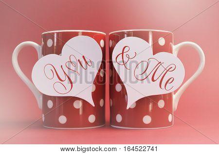 Valentine Polka Dot Coffee Messages