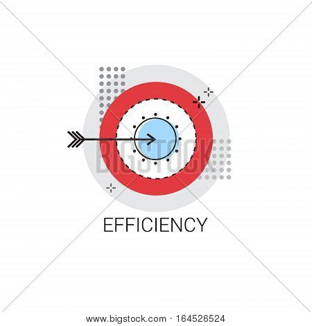 Efficiency Target Arrow Get Aim Business Concept Icon