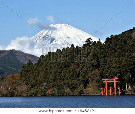 Mount Fuji and Lake Ashi