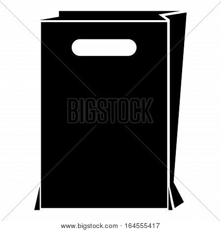 Paper bag icon. Simple illustration of paper bag vector icon for web