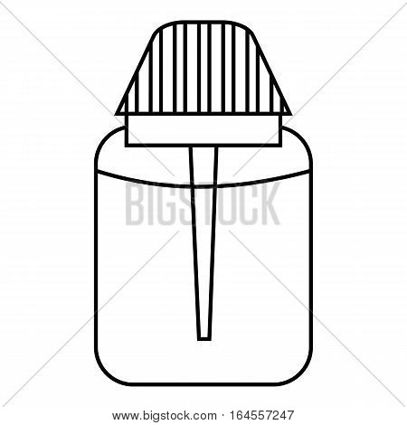 Big plastic jar icon. Outline illustration of big plastic jar vector icon for web
