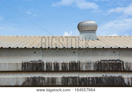 Roof top ventilation system for heat control of factory