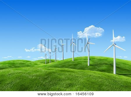 6000px nature collection - Wind power station