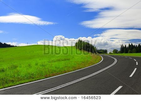 Highway to Heaven - The road on a sunny summer day