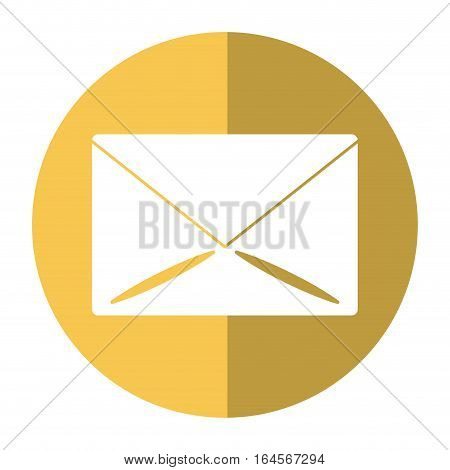 email message mail button shadow vector illustration eps 10