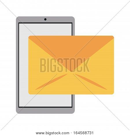 smartphone email message mail vector illustration eps 10