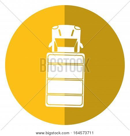 truck top view parking lot shadow vector illustration eps 10