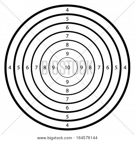 Blank template for sport target shooting competition ...