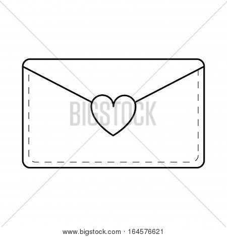 email envelope message love line vector illustration eps 10