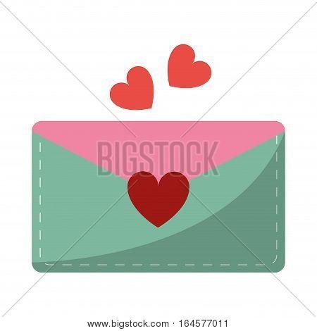 email envelope message love vector illustration eps 10