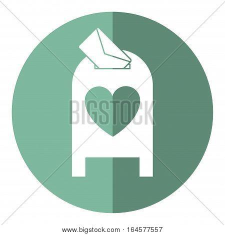 love mail post box message valentine shadow vector illsutration eps 10