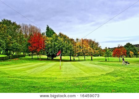 Beautiful golf park