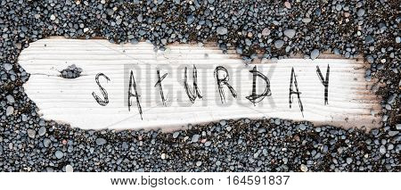Sand On Planked Wood - Saturday