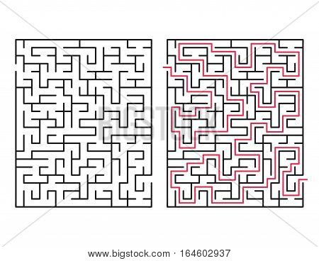 Vector labyrinth 56. Maze / Labyrinth with entry and exit.