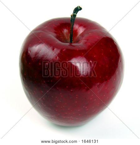 Una manzana roja