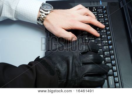 Identity Theft Hacker And Businessman