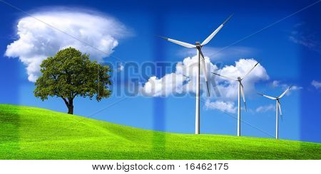 Medio ambiente - concepto de energía limpia