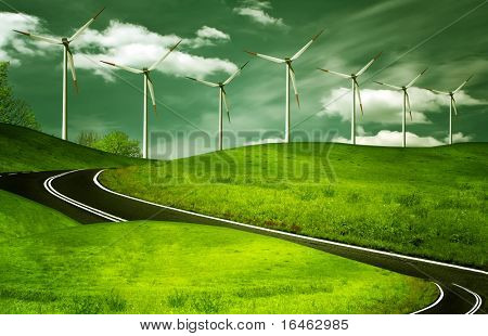 Wind generators, ecology