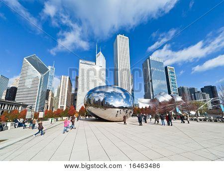 Millennium Park In Downtown Chicago