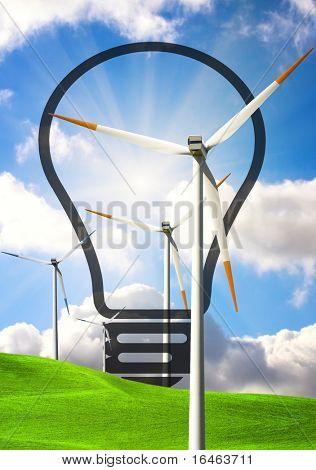 Concepto de la energía eólica
