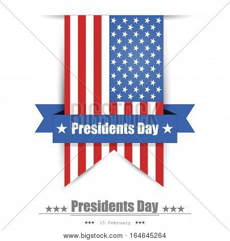 Illustration Of Presidents Day Background Flat Design
