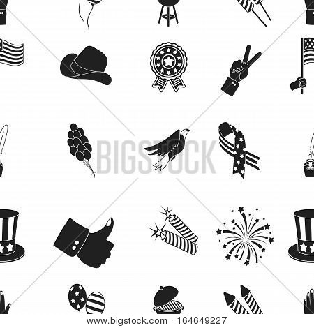 Patriot Day pattern icons in black style. Big collection of Patriot Day vector symbol stock