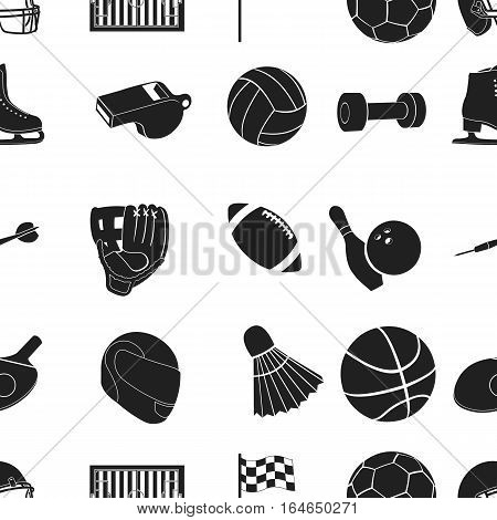 Sport and fitness pattern icons in black style. Big collection of sport and fitness vector symbol stock