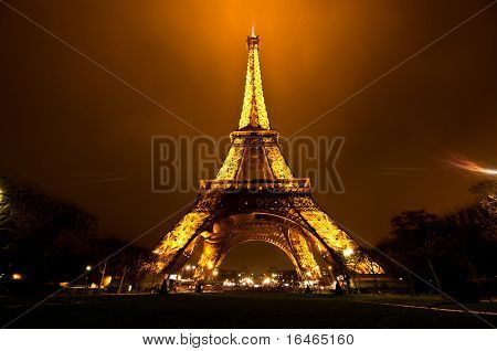 Ceremonial Lighting Of The Eiffel Tower In Paris, France