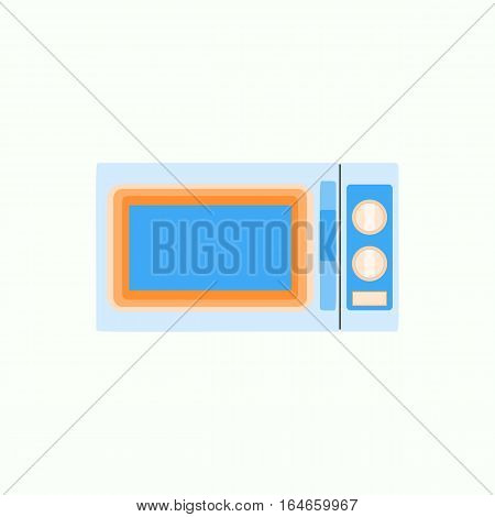Microwave icon in flat style, kitchenware Graphic illustration