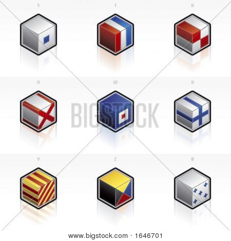 International Maritime Flags Icons Set 58I
