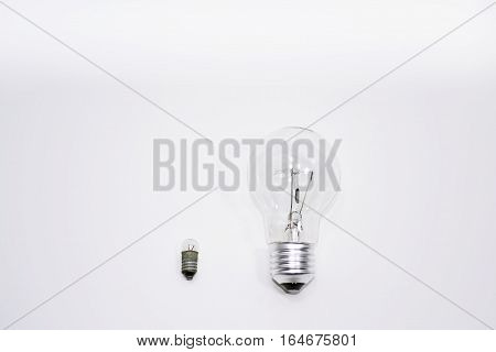 Abstract idea of comparing something. Isolated on white background.