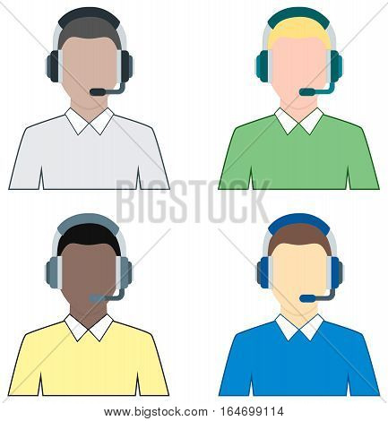 Supporter with Headset - service center agent
