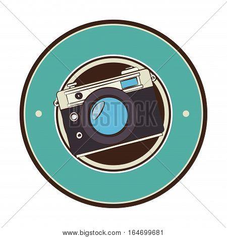 camera photographic retro style vector illustration design