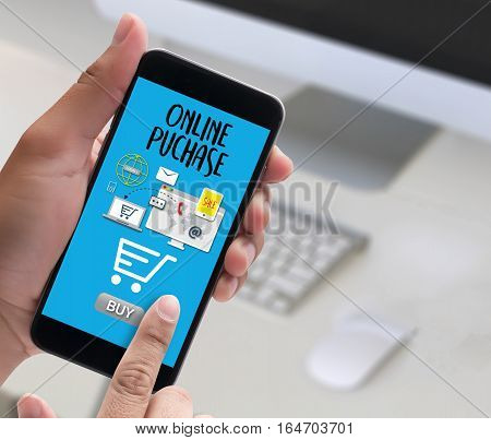 Online Puchase Add To Cart Online  Order Store Buy Shop  Online Payment Shopping Business And Modern