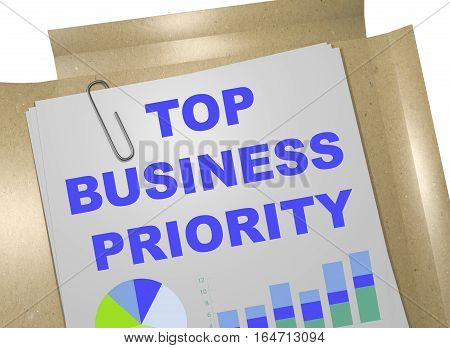 Top Business Priority - Business Concept